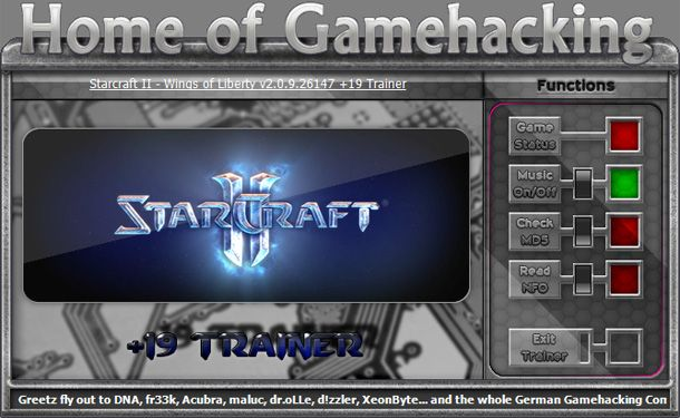 StarCraft II: Heart of The Swarm v2.0.9.26147 +19 Trainer [HoG]