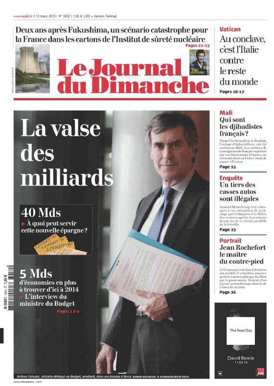 Le Journal du Dimanche - 10 Mars 2013