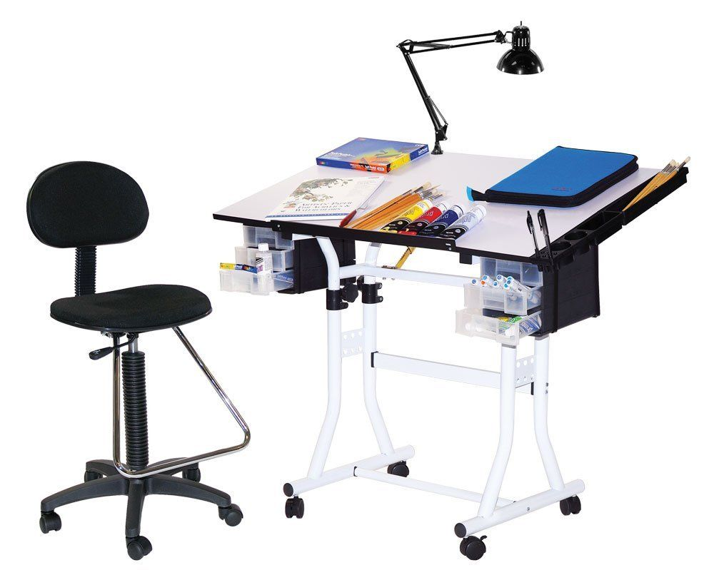 Mesa para dibujo con silla escritorio dibujar vbf - Mesa de dibujo portatil ...