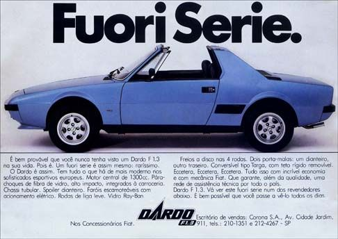 Fiat Dardo F 1.3. Fuori Serie.