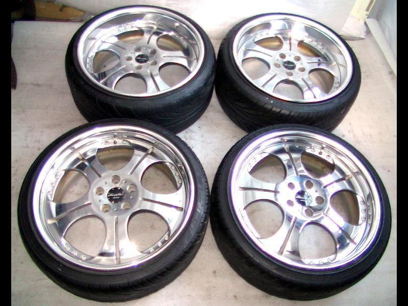WORK Euroline 19 8.5J 9.5J alloy wheels rims 5x114 Lexus Aristo