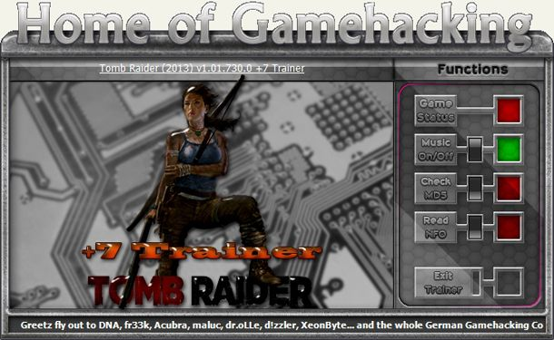 TOMB RAIDER 1.1.730.0 +7 TRAINER [HoG]