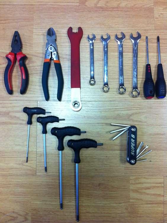Инструменты для сборки велосипеда