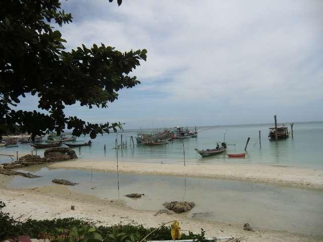 der Fischereihafen von Chaloklum